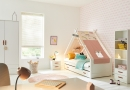 Ledikant met hemel voor meisjes van de kinderslaapkamer en tienerslaapkamer collectie van Coolkids meubelen.