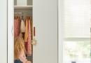 Kledingkast met 2 laden van de kinderslaapkamer en tienerslaapkamer collectie van Coolkids meubelen.