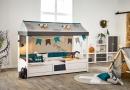 Thema Dino op 4in1 bed van Life Time Kidsrooms kinderslaapkamers en tienerslaapkamers.