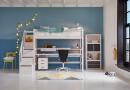 Hoogslaper met nieuwe trap met bergruimte van Life Time Kidsrooms kinderslaapkamers en tienerslaapkamers.