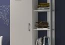 Model Ugo van Gami. ééndeurs kledingkast met boekenrek