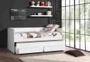 De bedbank met slaapladen en 2 opbergladen van het model Robin