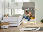 Life Time Kidsrooms kinderslaapkamers en tienerslaapkamers. Hoekopstelling Beachhouse met bankje